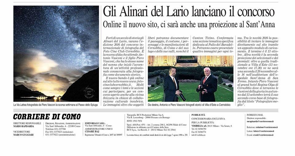 Corriere di Como - Agosto 2016