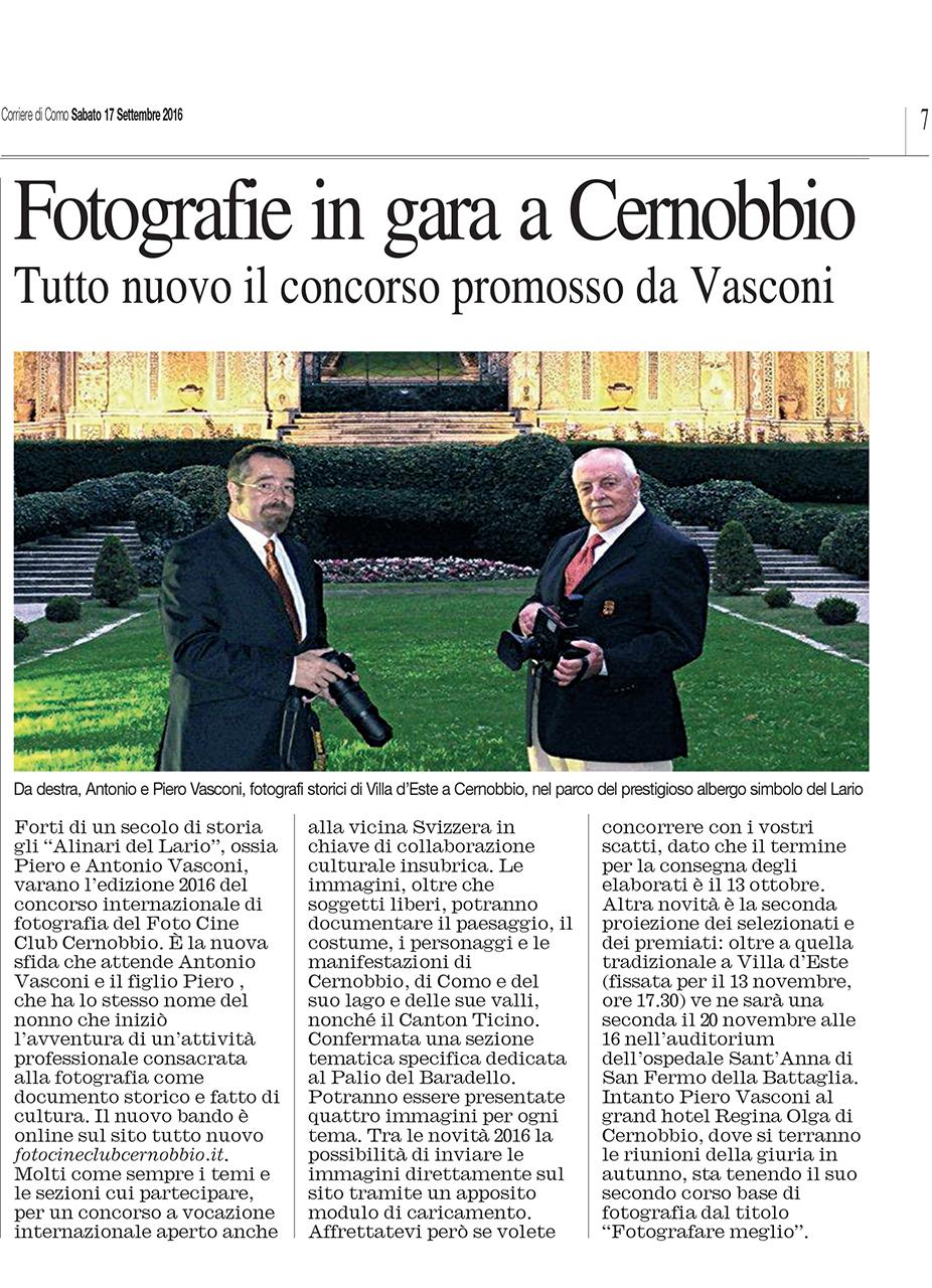 Corriere di Como - Settembre 2016